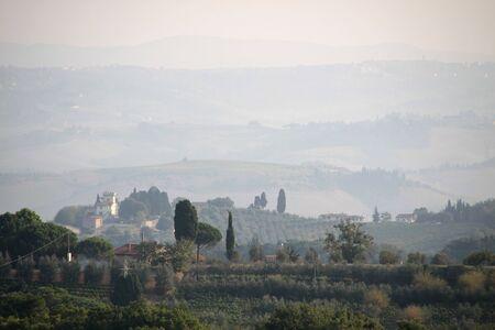 Tuscany hills in Chianti near Gambassi Terme photo