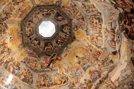 Dome of the cathedral Santa Maria del Fiore in Florence