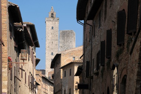 Small town of San Gimignano in Tuscany, Italy Stock Photo - 7760209