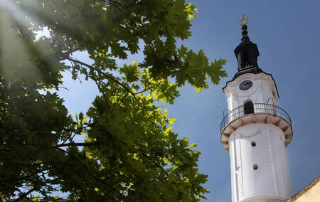 castle district: Fire Tower in the Castle District in Veszprem, Hungary Stock Photo