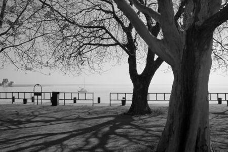 balaton: Pier at Lake Balaton Stock Photo
