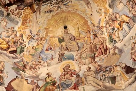 santa maria: Dome of the cathedral Santa Maria del Fiore in Florence