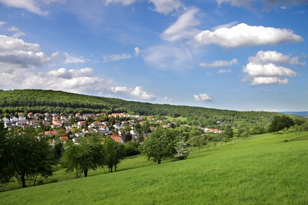 countrified: Landscape in the Taunus region in the spring, Germany