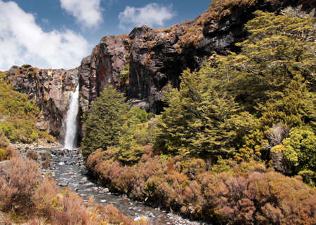 Waterfall in Tongariro National Park, Manawatu-Wanganui, New Zealand Stock Photo - 11007038