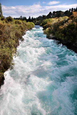 rapid: Huka Falls near Taupo, North Island, New Zealand Stock Photo