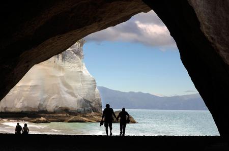 Coast near the Cathedral Cove, Hahei, Coromandel Peninsula, New Zealand Stock Photo