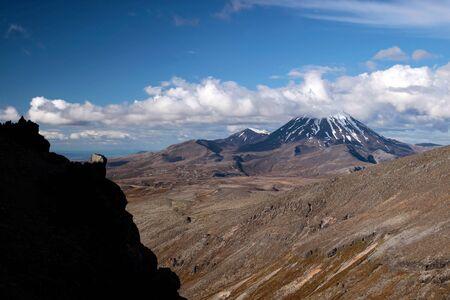 Meager landscape at Mount Ruapehu, Tongariro National Park, Manawatu-Wanganui, New Zealand Stock Photo - 11963326
