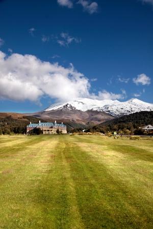 tongariro: Chateau Tongariro en Tongariro National Park, Manawatu-Wanganui, Nueva Zelanda