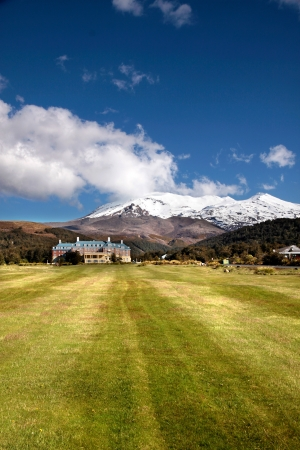 Chateau Tongariro in Tongariro National Park, Manawatu-Wanganui, New Zealand photo