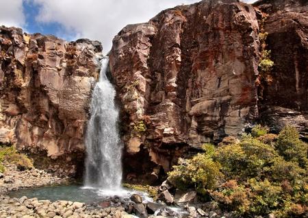 Waterfall in Tongariro National Park, Manawatu-Wanganui, New Zealand