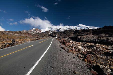 Road to Mount Ruapehu, Tongariro National Park, New Zealand photo