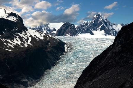 fox glacier: Fox Glacier, Westland National Park,  South island,  New Zealand