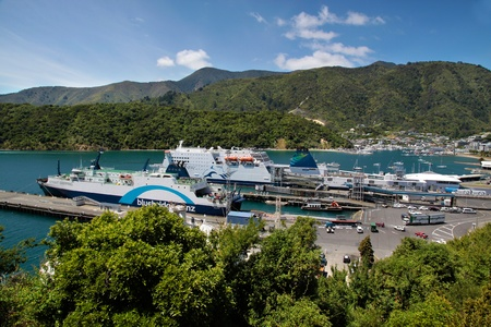 Harbor of Picton, South Island , New Zealand