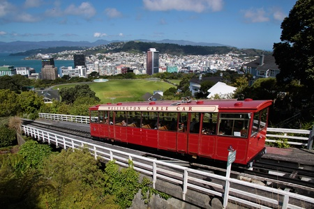 cable car: Cable Car to Botancial Garden in Wellington, New Zealand