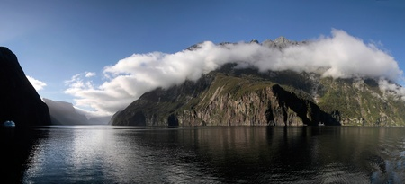 Mountains in the Milford Sound, Southland, South island,  New Zealand Stock Photo - 13484903