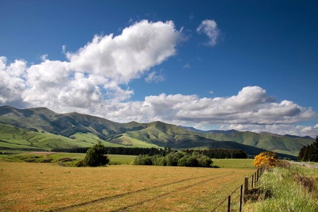 Farmland near Mossburn between Queenstown and Te Anau, Southland, South island,  New Zealand