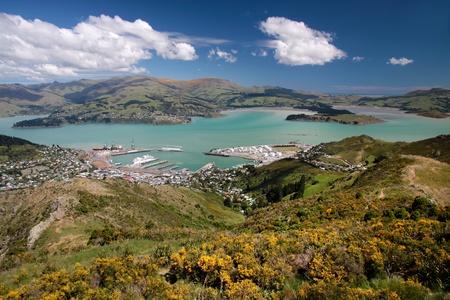 canterbury: Vue sur Lyttelton de Port Hills, Christchurch, Canterbury, �le du Sud, Nouvelle-Z�lande