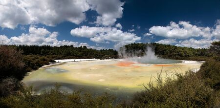 Wai-o-Tapu geothermal area in Rotorua, North Island, New Zealand photo