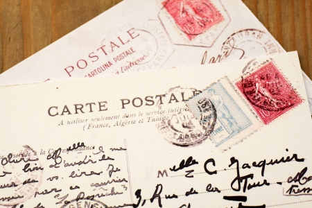 Two old French Postcards photo