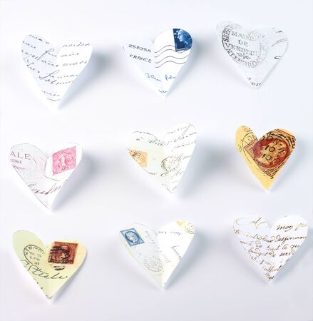 Flying love letters cut out of old letters Stock Photo - 13953006