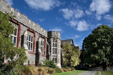 historically: Christs College in Christchurch, Canterbury, South Island,  New Zealand Editorial