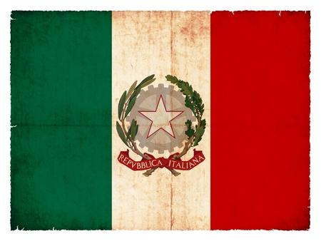 italy flag: Nacional a la Bandera de Italia creó en el estilo grunge