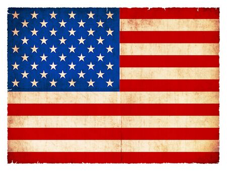 National Flag of USA created in grunge style photo