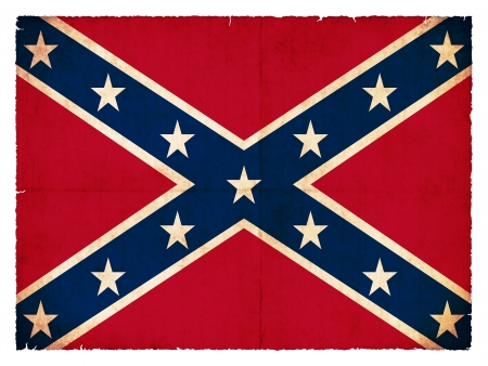 Historic Confederate flag created in grunge style photo