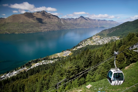 Skyline Gondola to the Bobs Peak, Otago, South island,  New Zealand