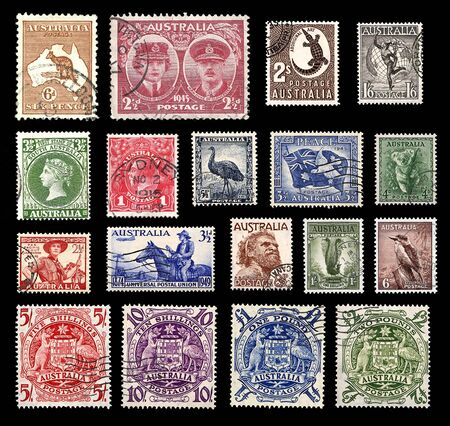 Postage stamps from Australia Stock Photo - 15317861