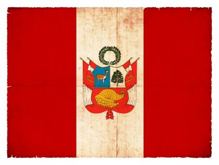create: Bandiera nazionale del Per� creato in stile grunge