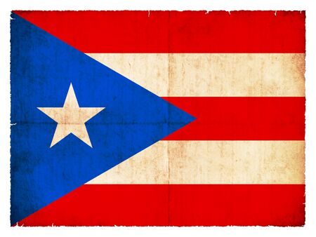 Flag of Puerto Rico created in grunge style photo
