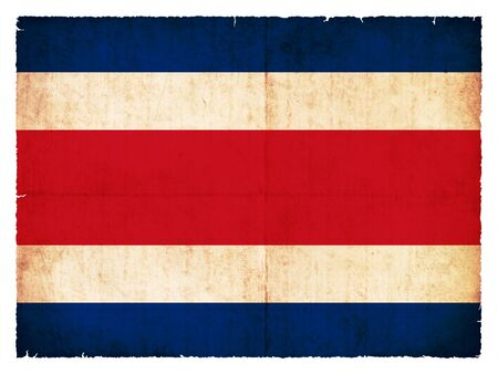 Flag of Costa Rica created in grunge style photo