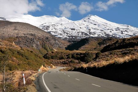 Road to Mount Ruapehu, Tongariro National Park, New Zealand photo