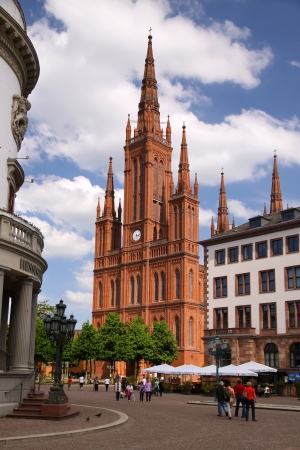 neo gothic: Gothic Market Church in Wiesbaden, Hesse, Germany