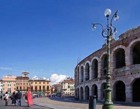 amphitheater: Amphitheater at the Piazza Bra in Verona, Veneto, Italy Stock Photo