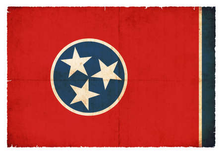 Flag of the US state Tennessee created in grunge style photo