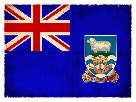 commonwealth: Flag of the Falkland Islands  British Overseas Territory  created in grunge style