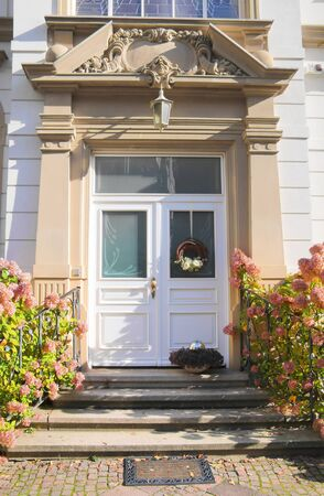 Entrace door of Wilhelminian style in Wiesbaden, Hesse, Germany Stock Photo - 18520461
