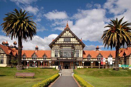 tudor: Former Bath House Tudor Towers, Rotorua, New Zealand Editorial