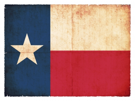 Flag of the US state Texas created in grunge style photo