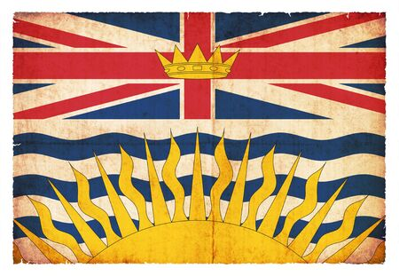 Flag of the Canadian province British Columbia created in grunge style photo