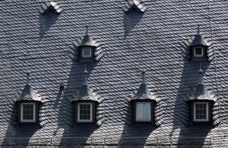 Dormer window at Palace of Vollrads in the Rheingau, Hesse, Germany photo