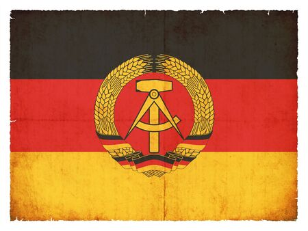 ddr: National Flag of  the German Democratic Republic  DDR   created in grunge style