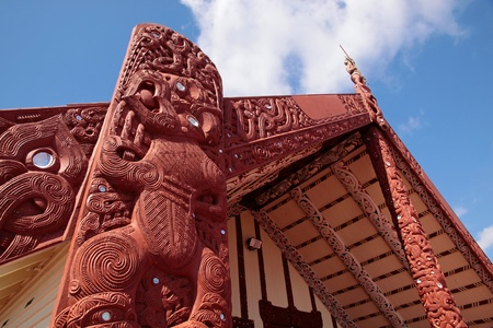 ロトルア、ニュージーランド北島のマオリの家