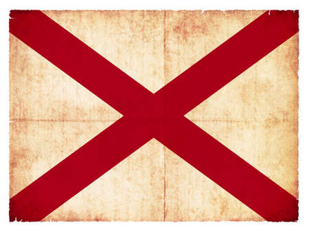 Flag of the US state Alabama created in grunge style photo
