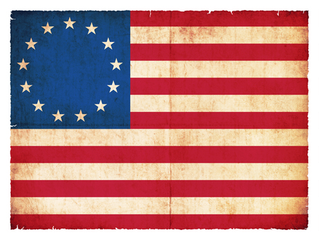 Historic Grunge flag of the USA photo