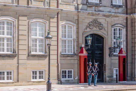 Changing of the guard in front of Amalienborg Palace in Copenhagen, Denmark Stock Photo - 23817050