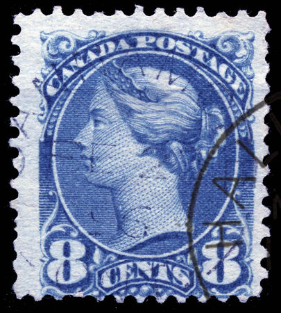 canada stamp: Historic 8 cent postage stamp from Canada