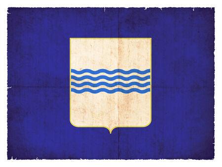 italien: Flag of the italien region Basilicata created in grunge style Stock Photo